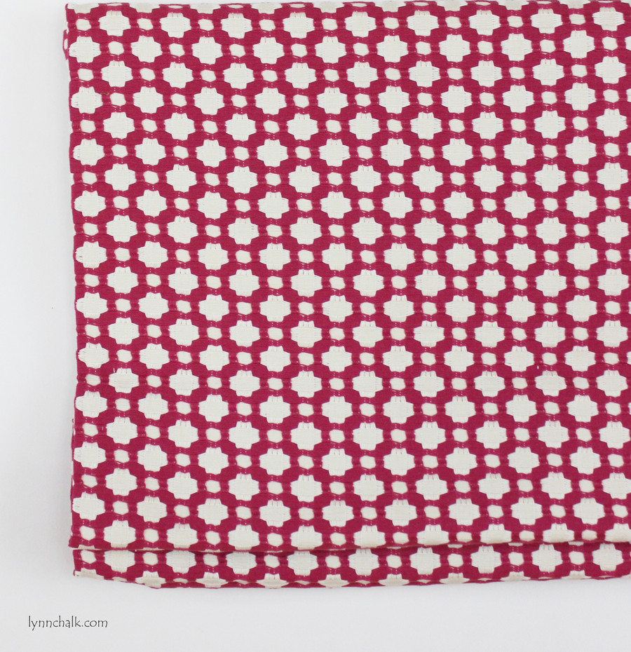 Roman Shade in Betwixt in Magenta on Natural
