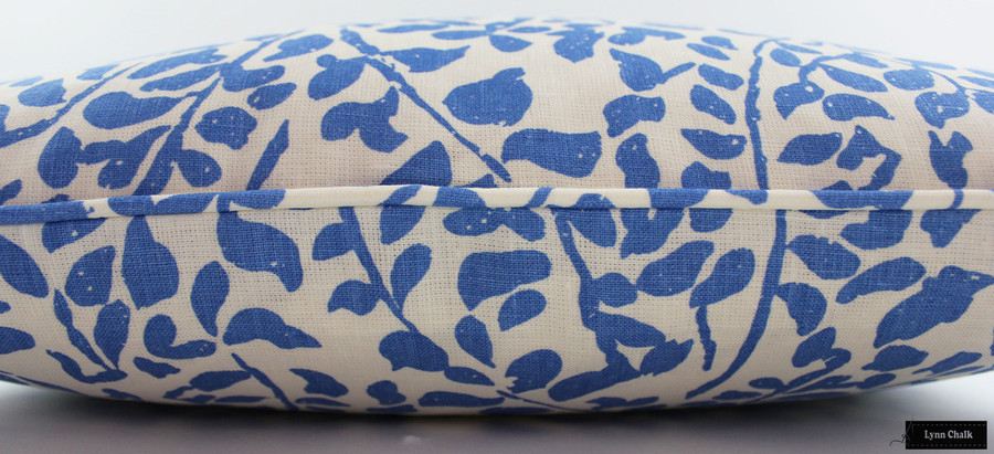Quadrille China Seas Arbre De Matisse Pillows (shown in Reverse Ecru on Natural)