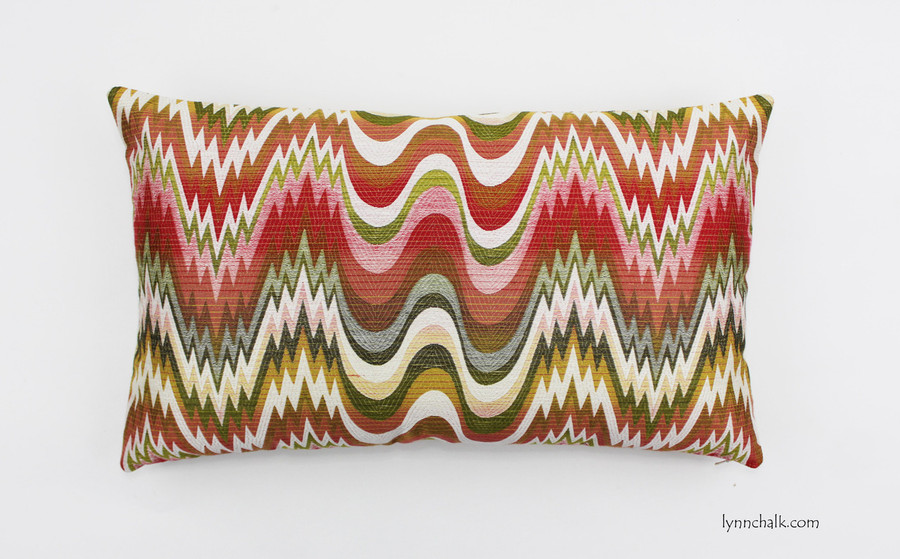 Custom Pillow in Acid Palm Watermelon (14 X 24)