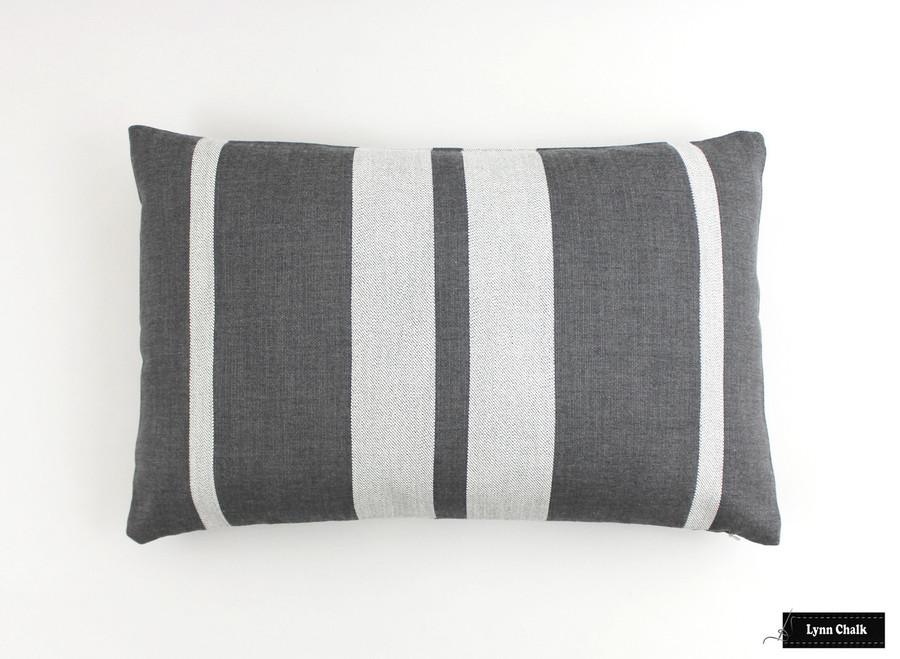 Perennials Little Big Stripe Flint Pillow (14 X 22)