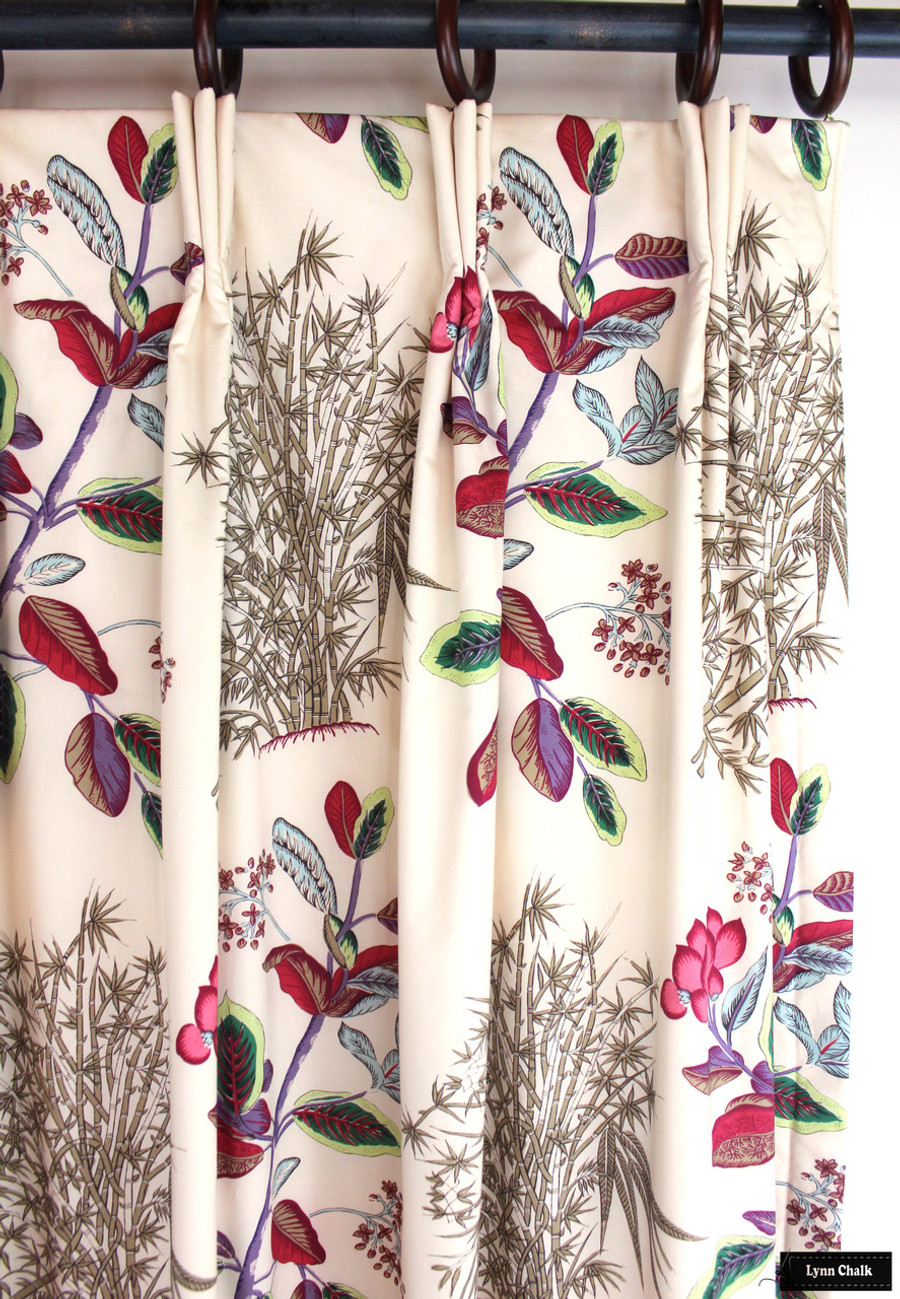 Custom Drapes by Lynn Chalk in Quadrille Jardin Des Plantes Multi