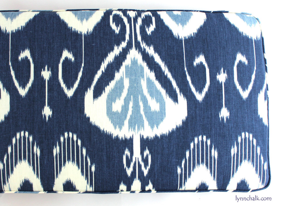 Custom Cushion by Lynn Chalk in Bansuri Iris