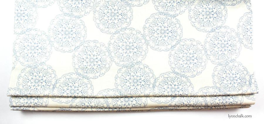 Custom Roman Shade by Lynn Chalk in Danda Light Blue