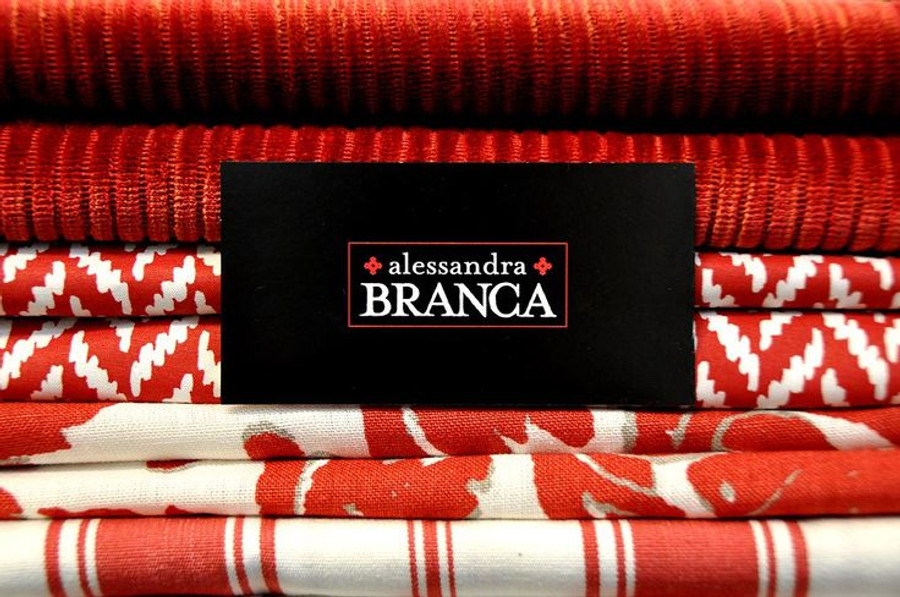 Alessandra Branca For Schumacher Branca Stripe Roman Shades (shown in Noir-comes in several colors)