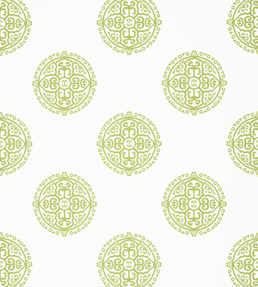 Thibaut Enchantment Wallpapers- Halie Circle Green T36171-01