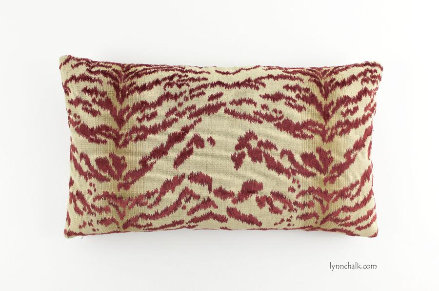 Pillow in Cowtan Rajah Red (14 X 24)