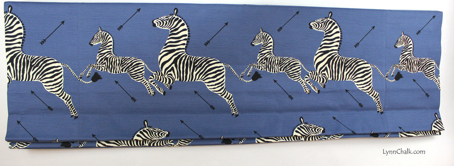 Scalamandre Zebras  -Denim Indoor/Outdoor fabric 36378