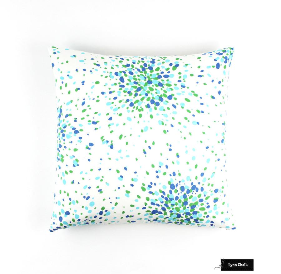 Lulu DK for Schumacher Jelly Bean Ocean Turquoise 174940 - 2 Yard Minimum Order
