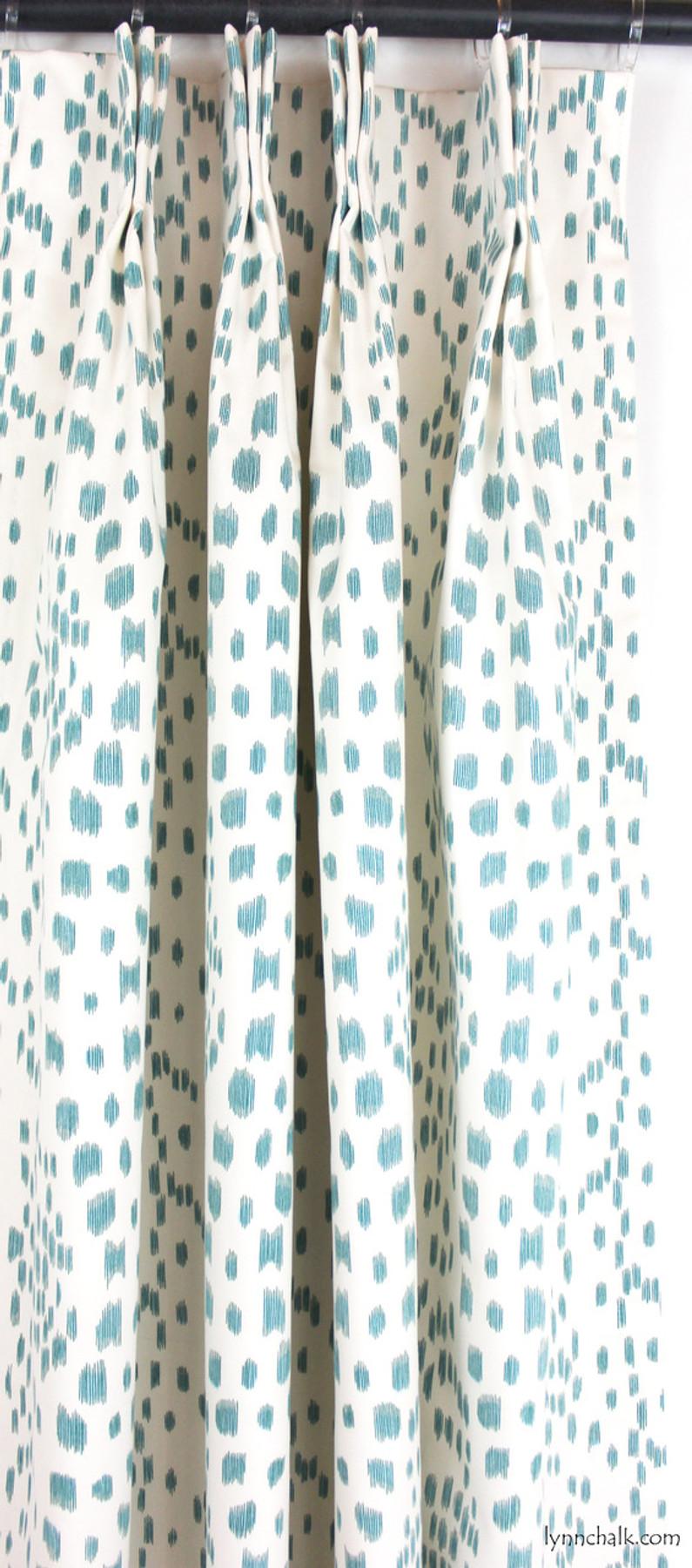 Custom Drapes by Lynn Chalk in Les Touches in Aqua