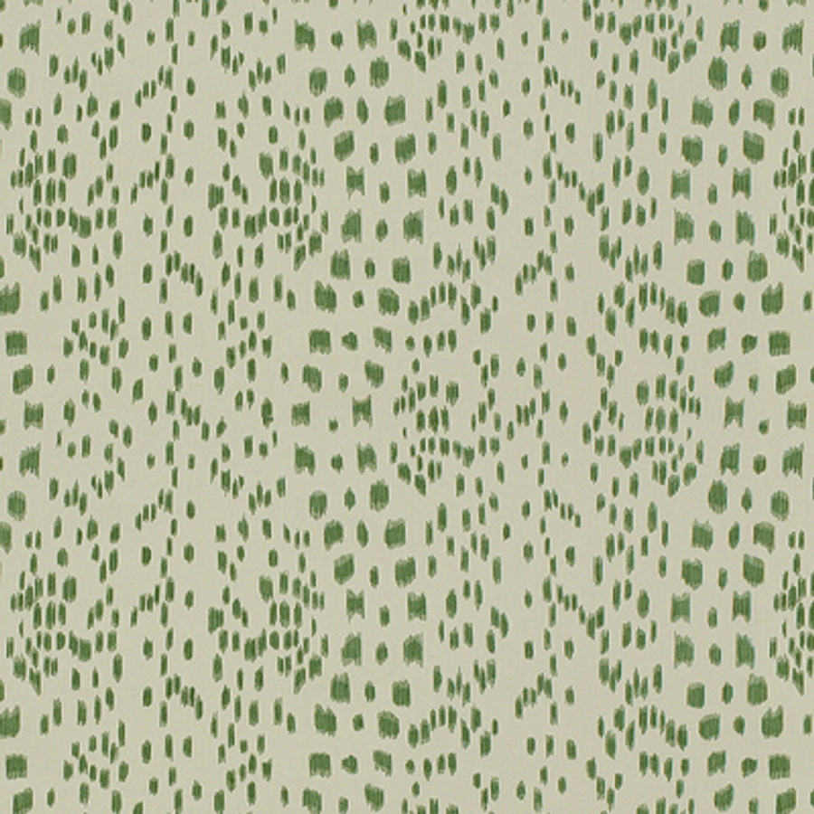 Les Touches in Green (comes in fabric and wallpaper)