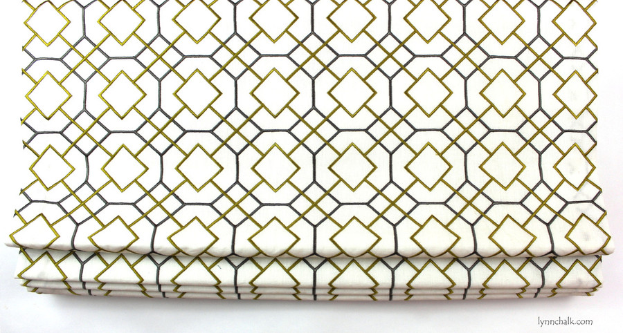 Roman Shade in Stinard in Chartreuse 311