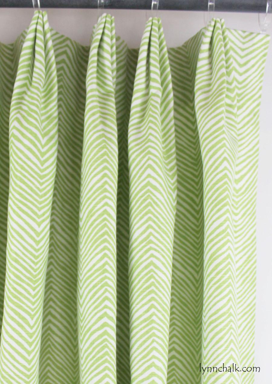Petite Zig Zag Jungle Green Drapes