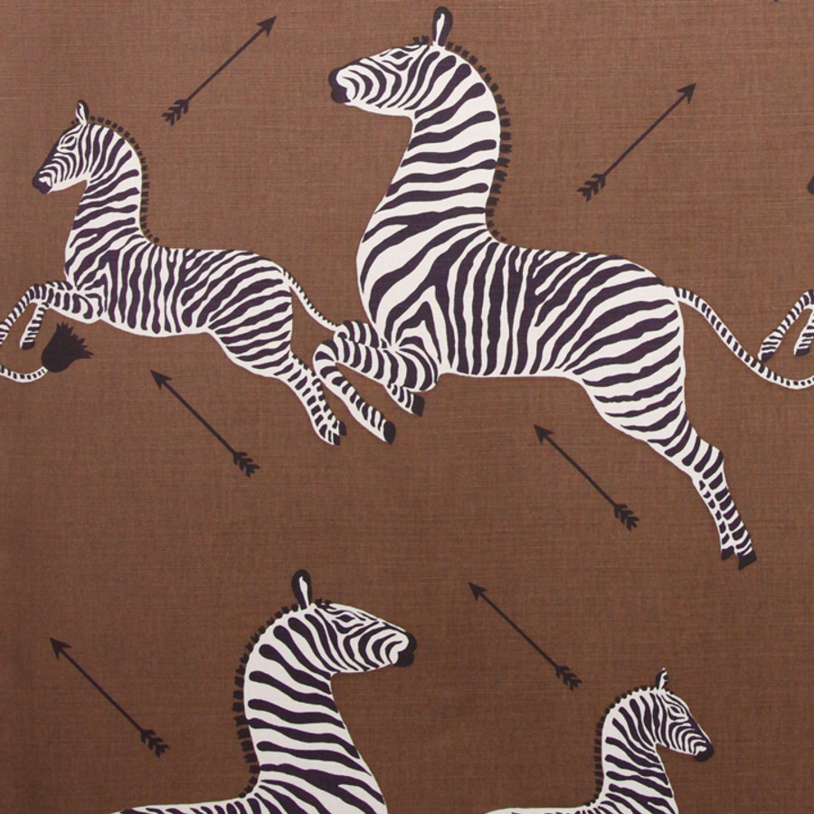 Scalamandre Zebras in Safari Brown Cotton/Linen