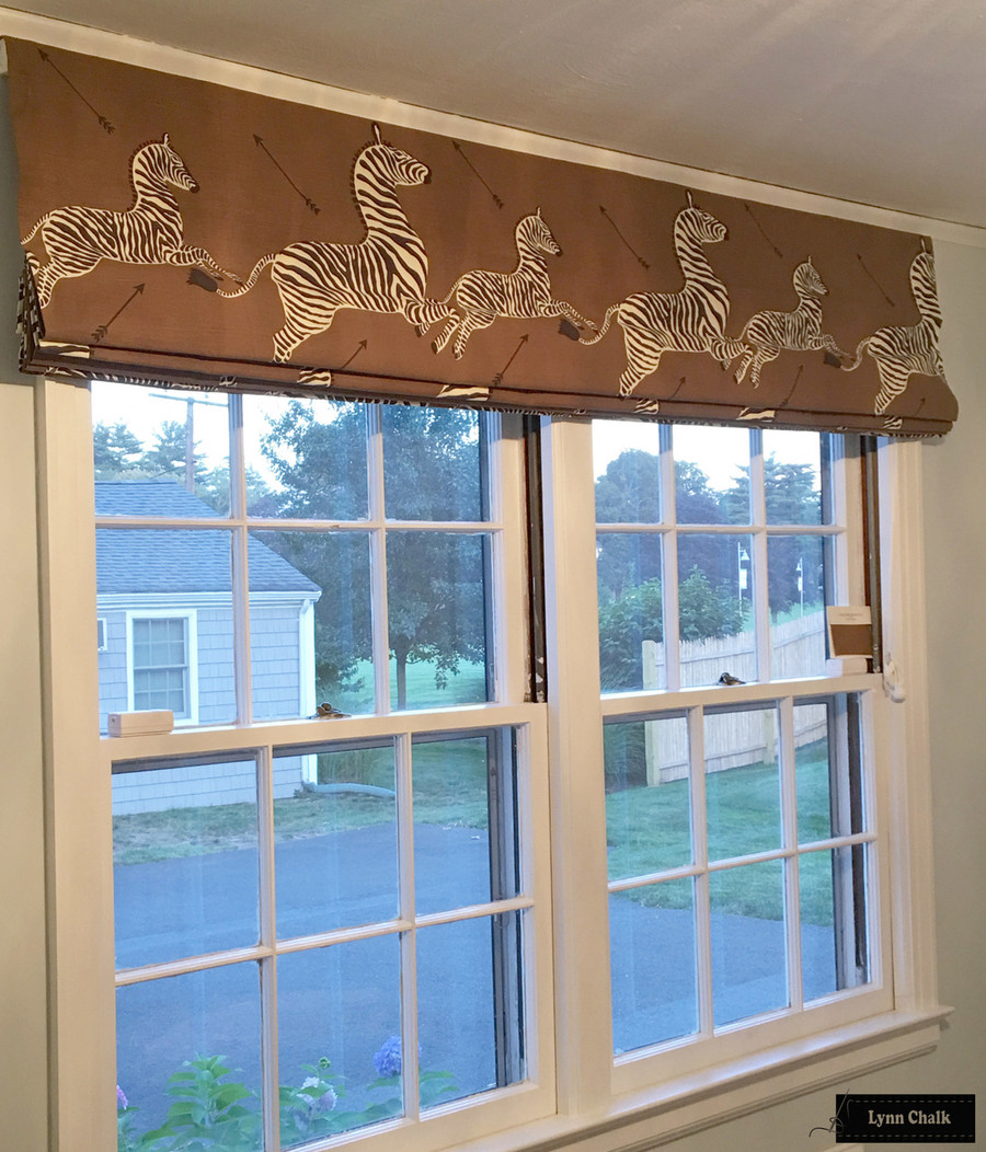 Double Wide Roman Shade in Safari Brown