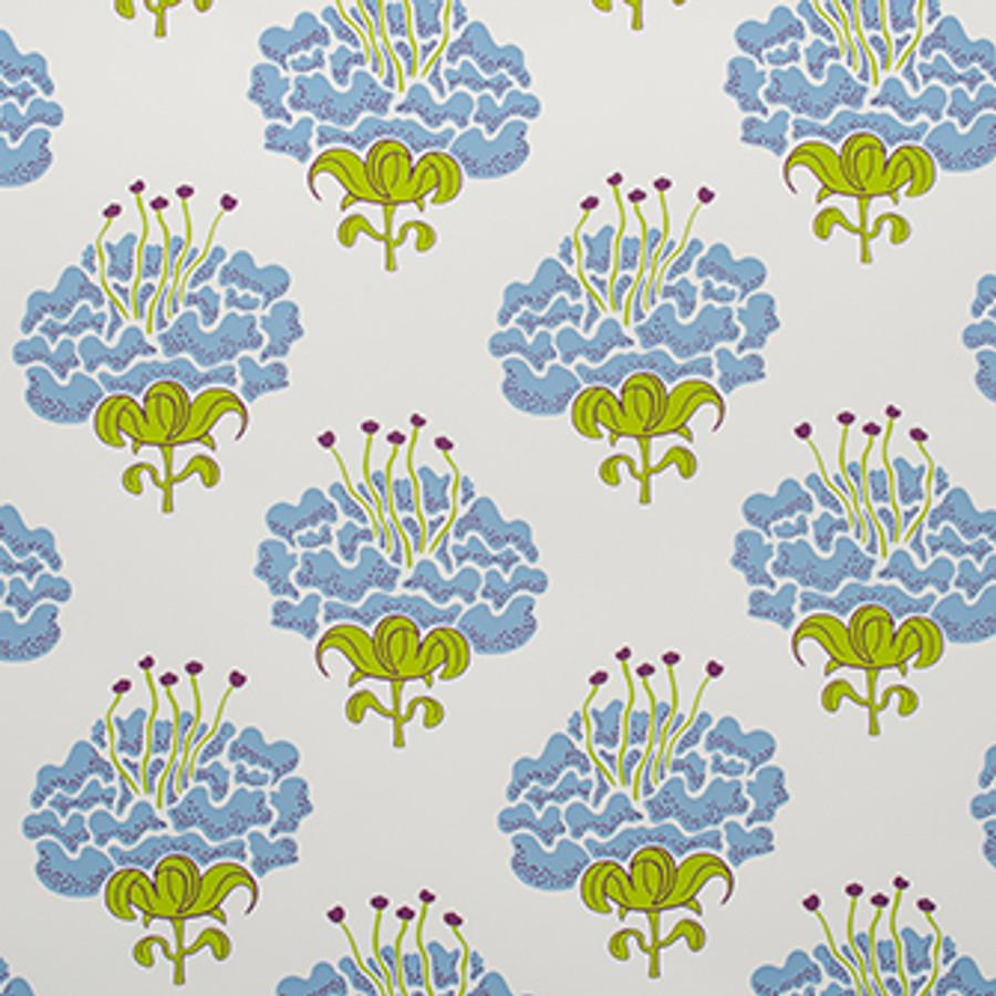 Katie Ridder Peony Wallpaper Blue