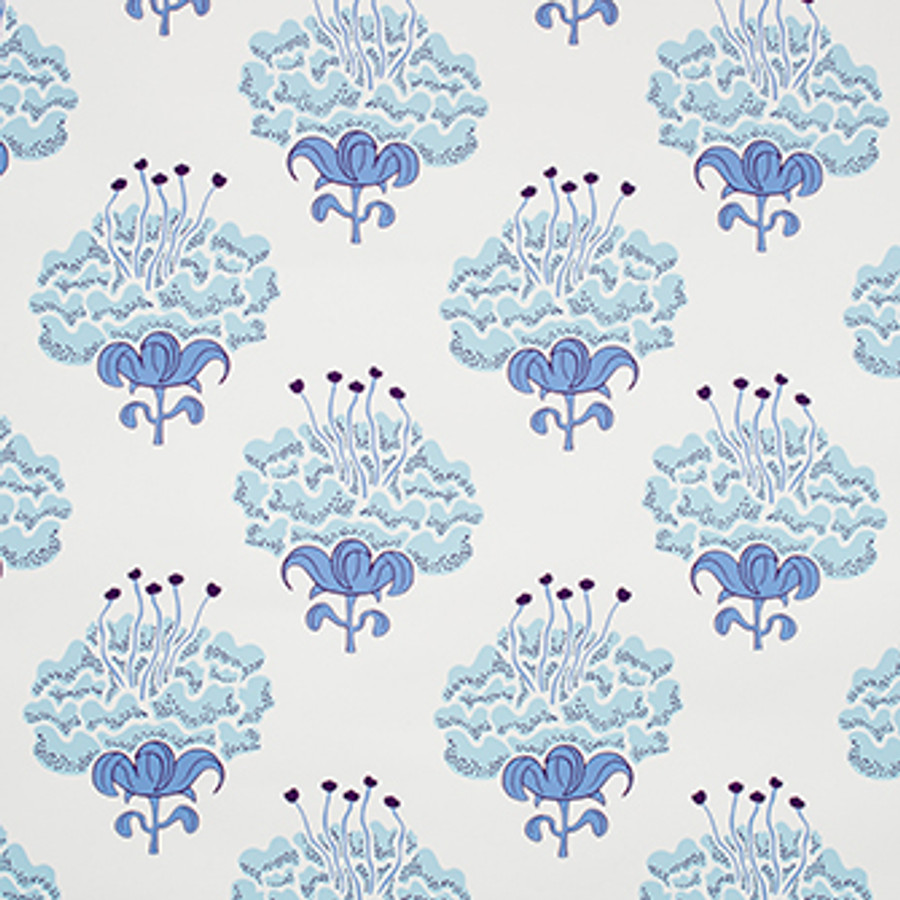 Katie Ridder Peony Wallpaper Blueberry