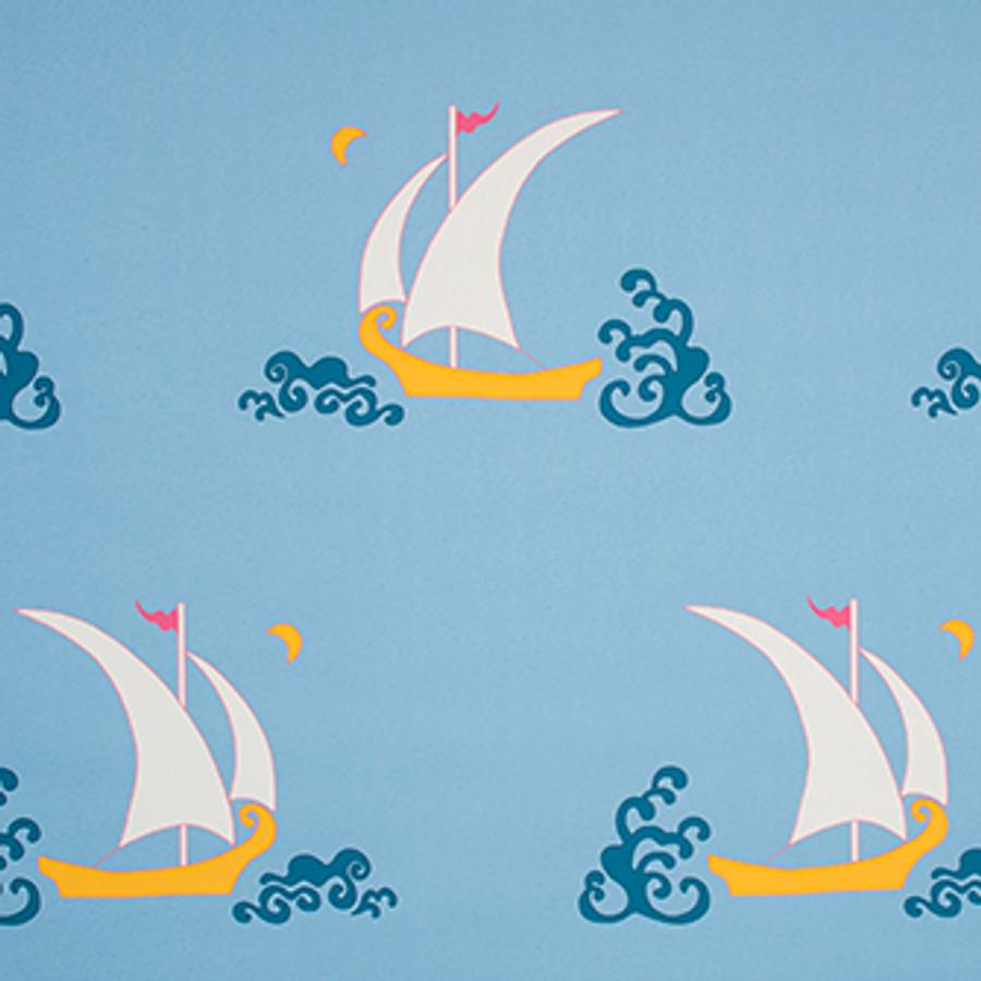 Katie Ridder Beetlecat Wallpaper in Blue