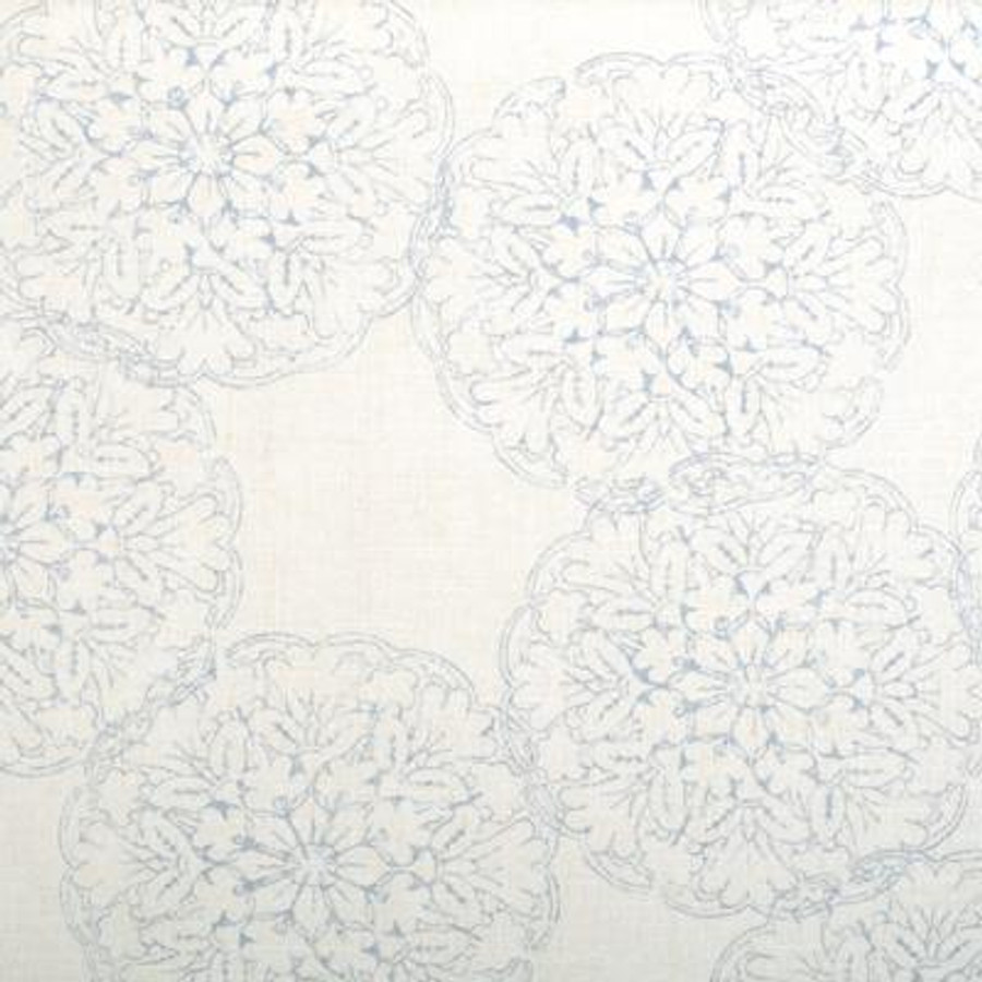 John Robshaw Danda for Duralee 20134 Drapes (shown in Light Blue-comes in 4 colors)
