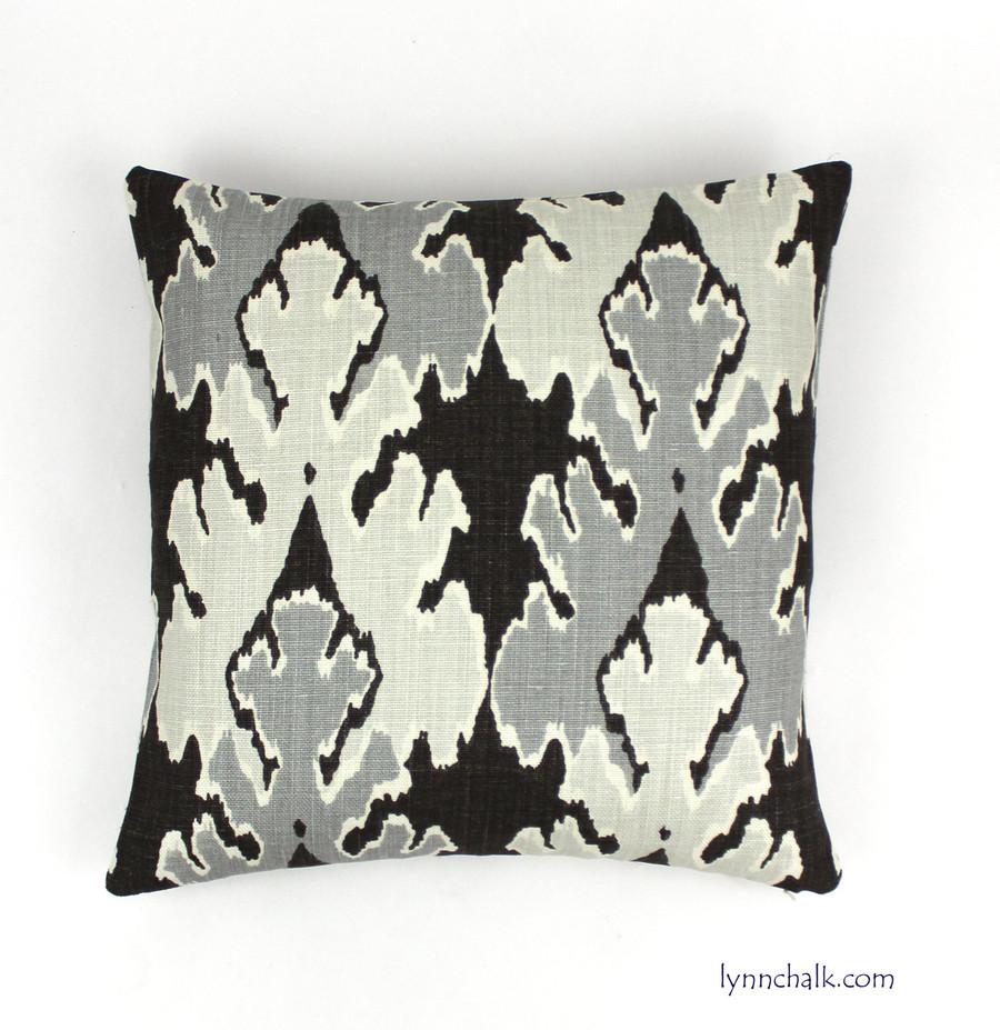 Custom Pillow by Lynn Chalk in Kelly Wearstler Bengal Bazaar Graphite