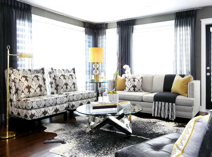 Sofa and Pillow Kelly Wearstler Bengal Bazaar Graphite