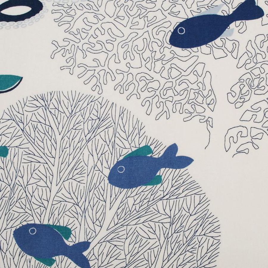 Duralee 21016-605 Sea Life in Ocean Roman Shade (Toni Gallagher Interiors)