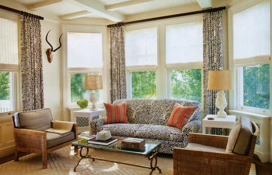 Arbre De Matisse Reverse Drapes and Sofa (New York Spaces)