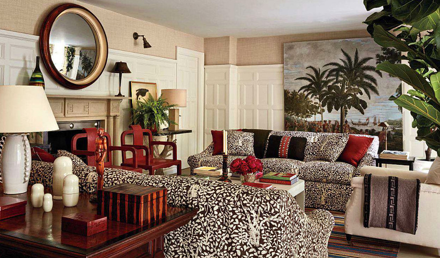 Quadrille Arbre De Matisse Sofas (Michael Smith-Architectural Digest)