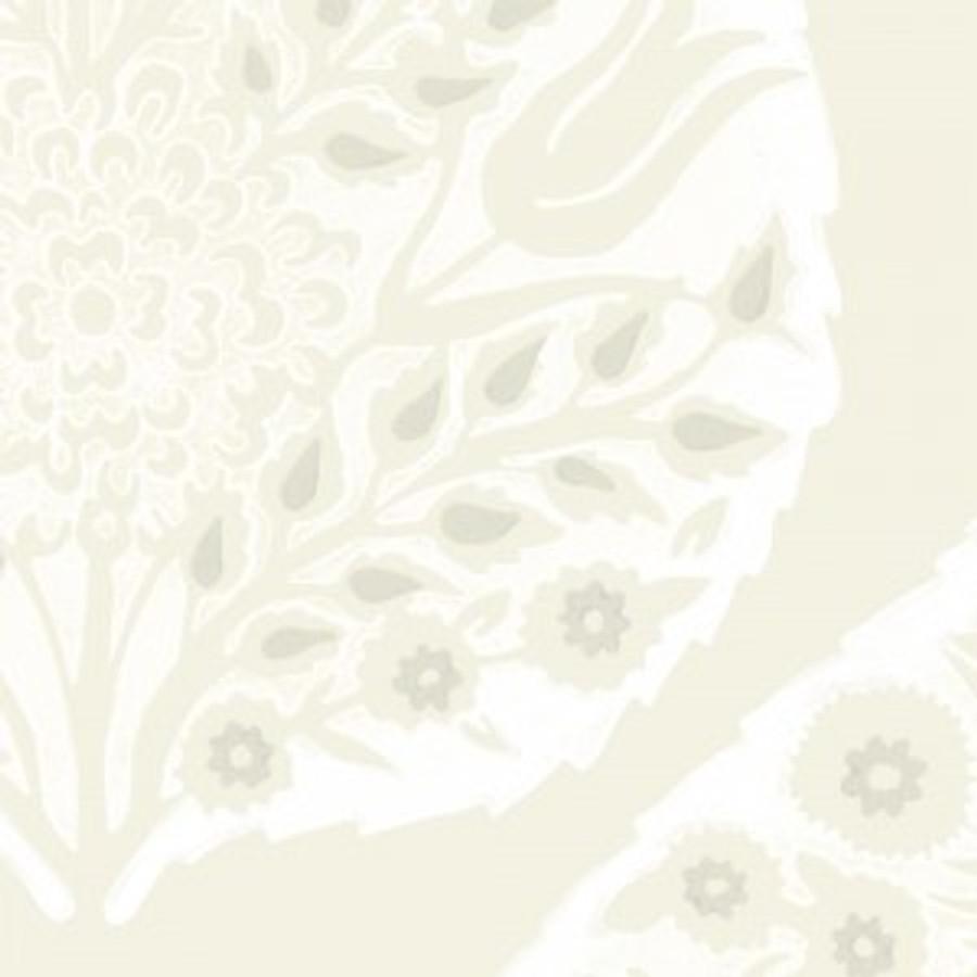 Lotus Wallpaper Bright White