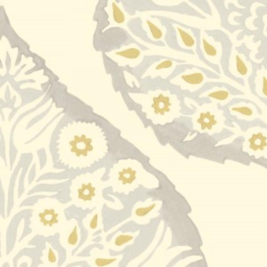 Lotus Wallpaper Dove Grey