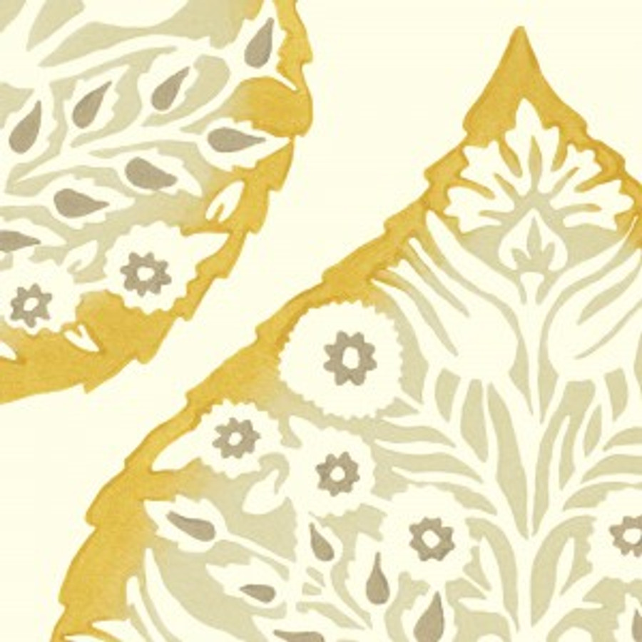 Lotus Wallpaper Ochre