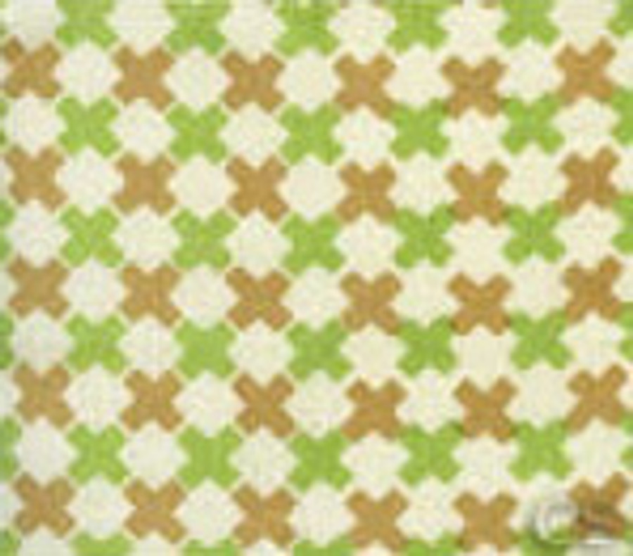 Double Cross Check Camel II Jungle Green on Tint 4120-06