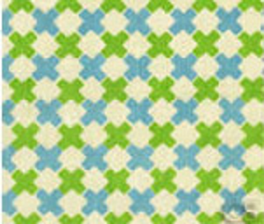 Double Cross Check New Blue Jungle Green on Tint 4120-03