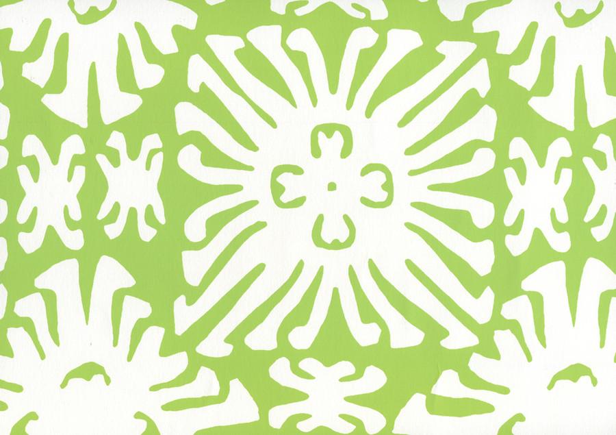 Sigourney Reverse Small Scale Jungle Green on white 2485WP 02
