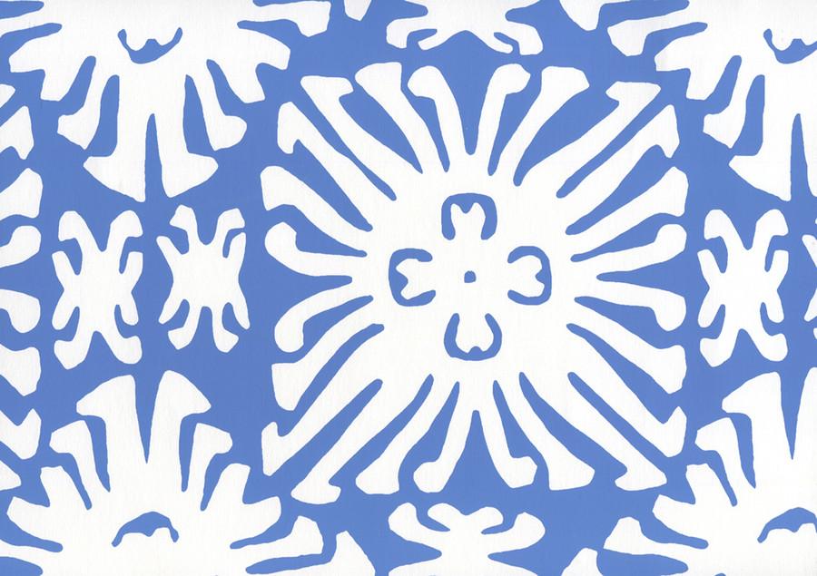 Sigourney Reverse Small Scale Royal Blue on white 2485WP 13