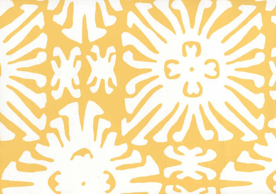 Sigourney Reverse Small Scale Yellow on white 2485WP 03