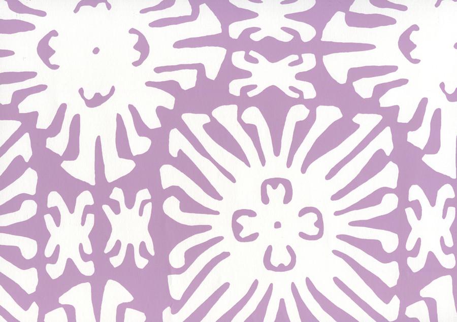 Sigourney Reverse Small Scale Lavender on white 2485WP 05