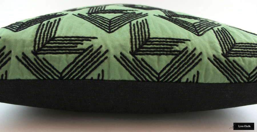 ON SALE Miles Redd for Schumacher V Step Pillows in Loden (20 X 20) Only 2 Pillows Remaining at this Sale Price.