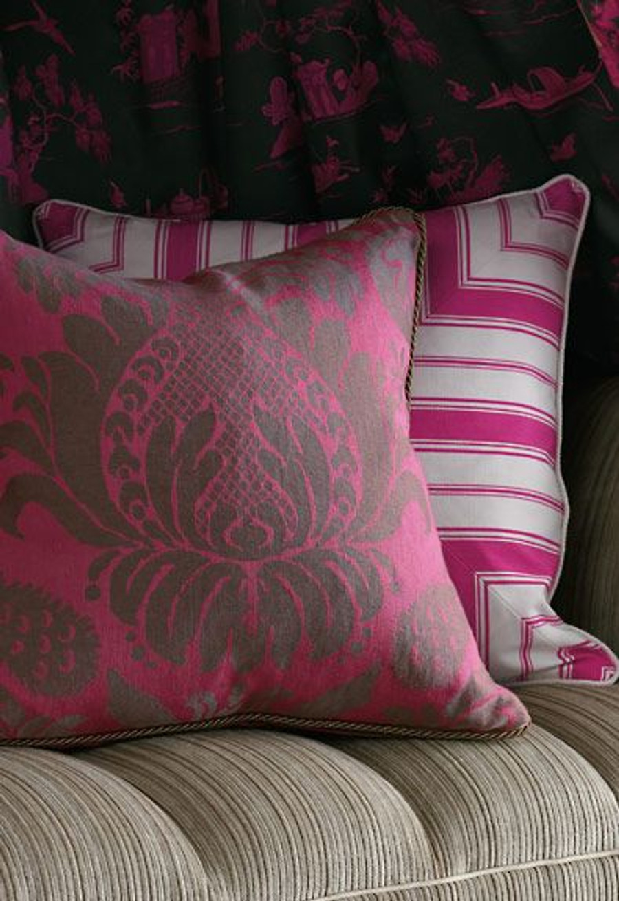 Alessandra Branca For Schumacher Branca Stripe Pillows (shown in Noir-comes in several colors)