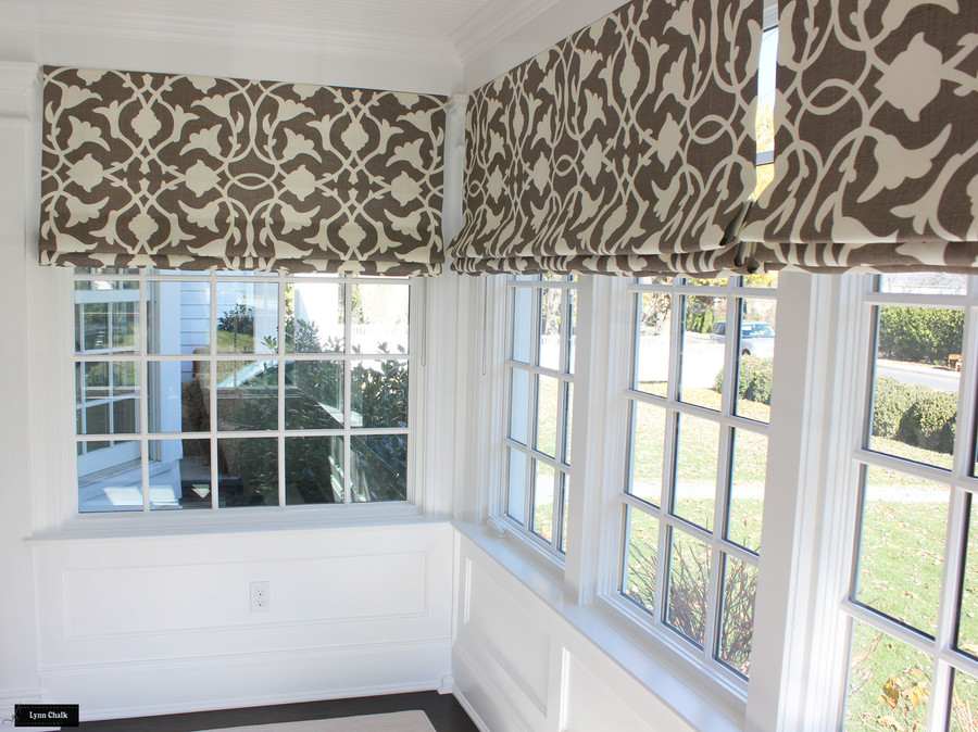 Roman Shades in Poetical in Cinder (this color has been discontinued)