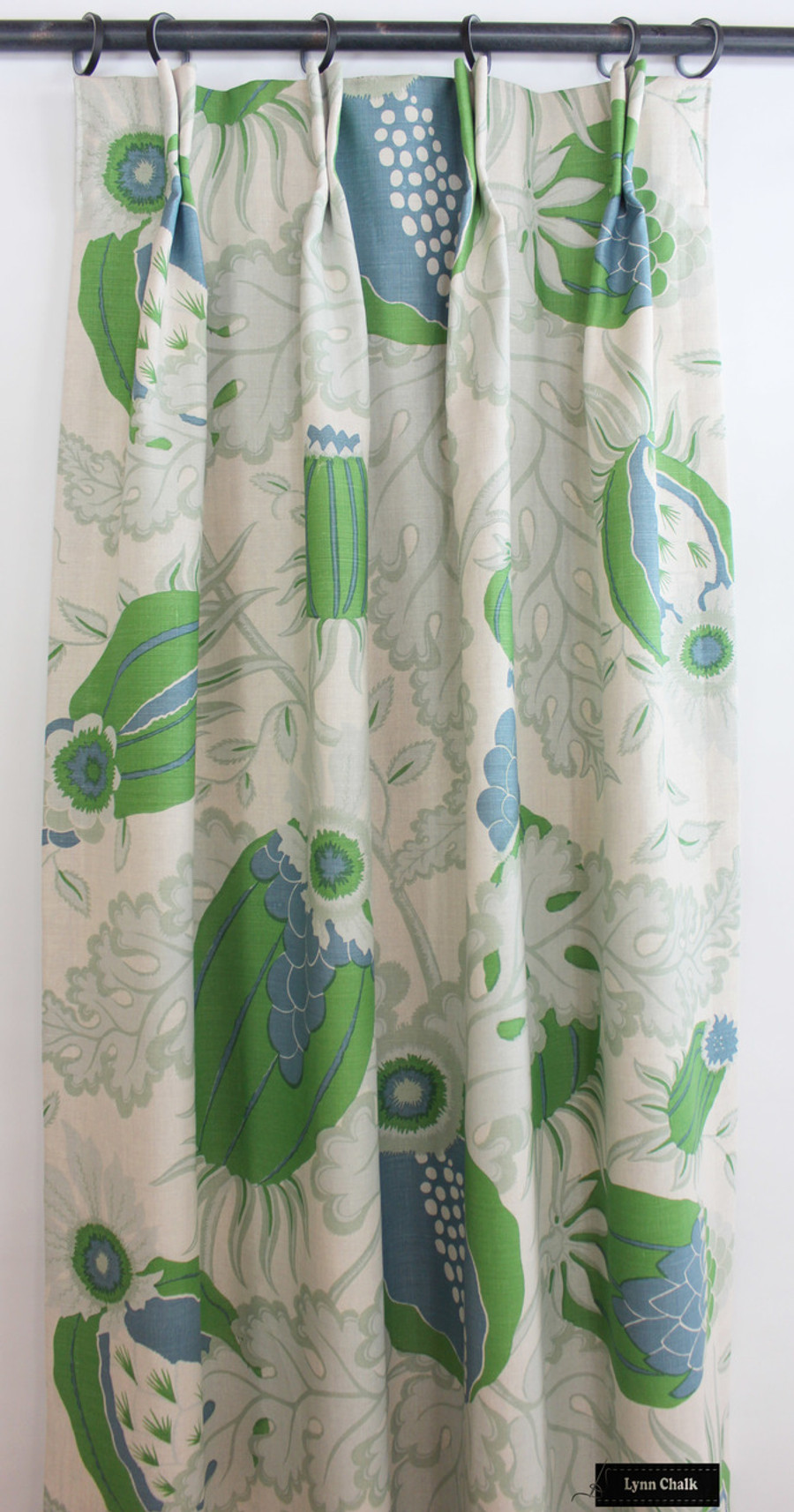 Christopher Farr Carnival Roman Shades and Pillows on Window Seat (shown in Green-comes in several colors)