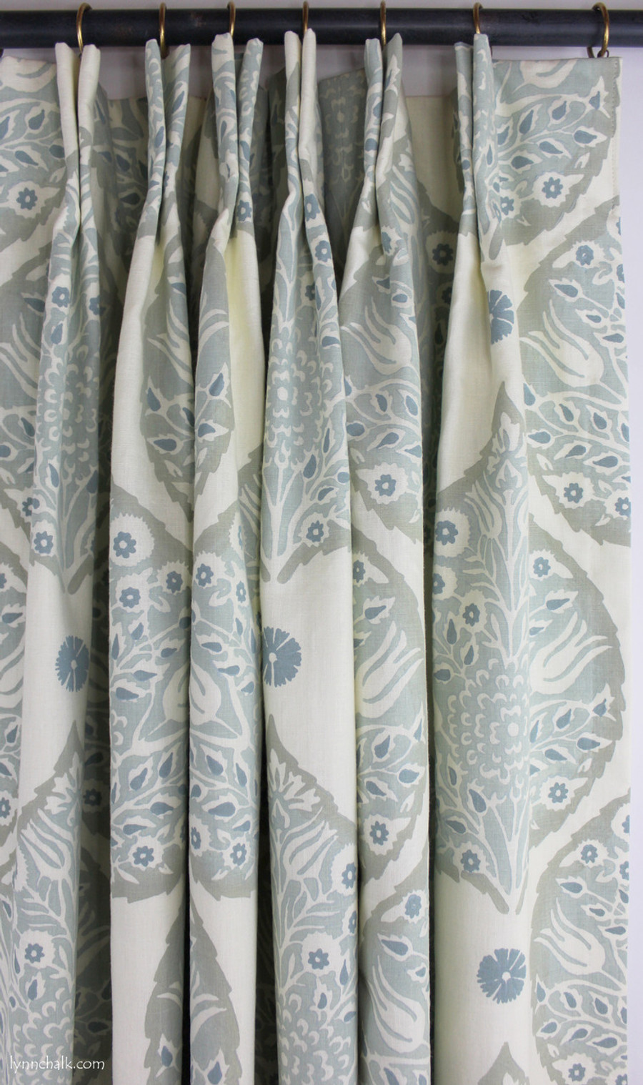 Galbraith & Paul Lotus Double Wide Roman Shade in Custom Colors