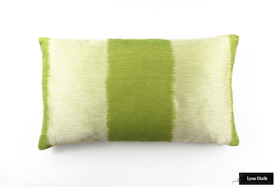 ON SALE Celerie Kemble Bagan in Absinthe Pillow  (Both Sides-14 X 24) Only 3 Remaining at This Sale Price