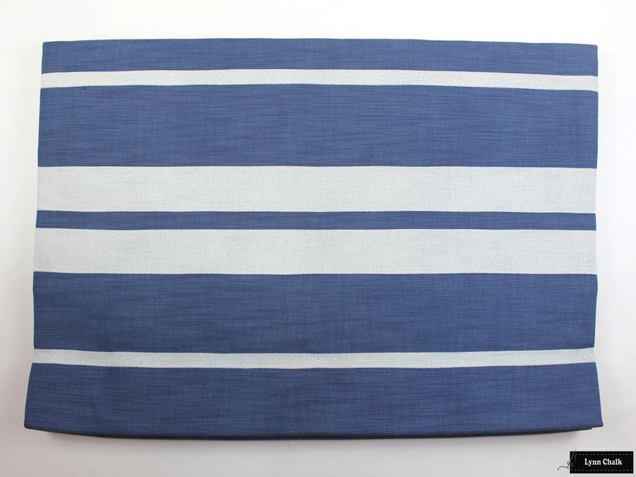 Roman Shade in Little Big Stripe in Blueberry