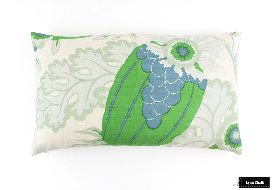ON SALE Christopher Farr Carnival Green Knife Edge Pillows (14 X 24) Only 2 Remaining