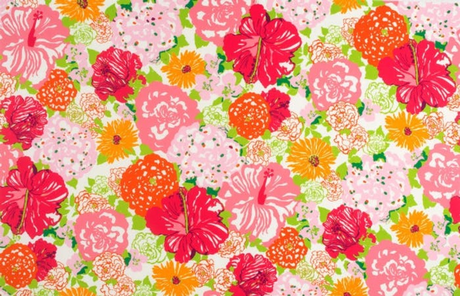 Lilly Pulitzer Heritage Floral II Salmon Pink Indoor Outdoor Fabric