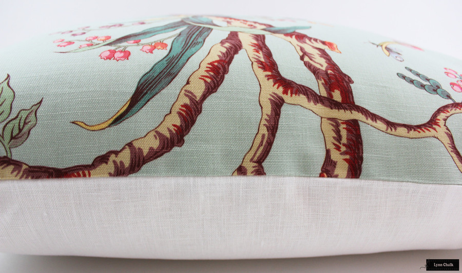 ON SALE Brunschwig & Fils Birds of a Feather Pillows in Eladon (24 X 24)