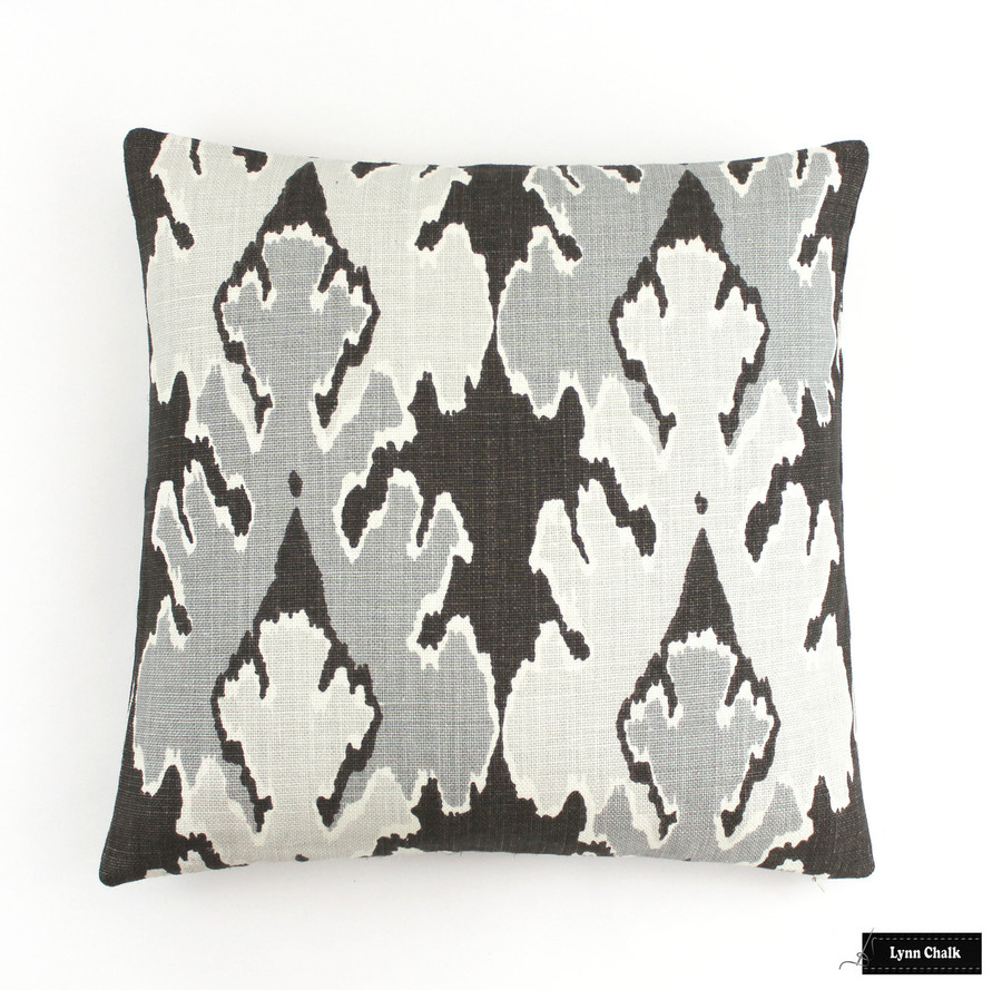 ON SALE 50% Off Kelly Wearstler (Both Sides-18 X 18) Bengal Bazaar Pillows in Graphite