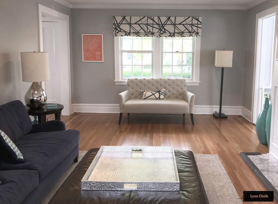 Kelly Wearstler Channels Custom Drapes in Living Room - Shown in Ebony/Ivory (Comes in 4 Colors)