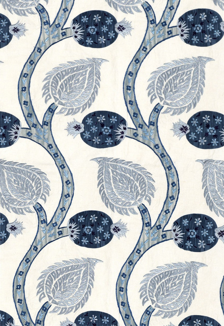 Schumacher Nurata Embroidery- Lapis 174181