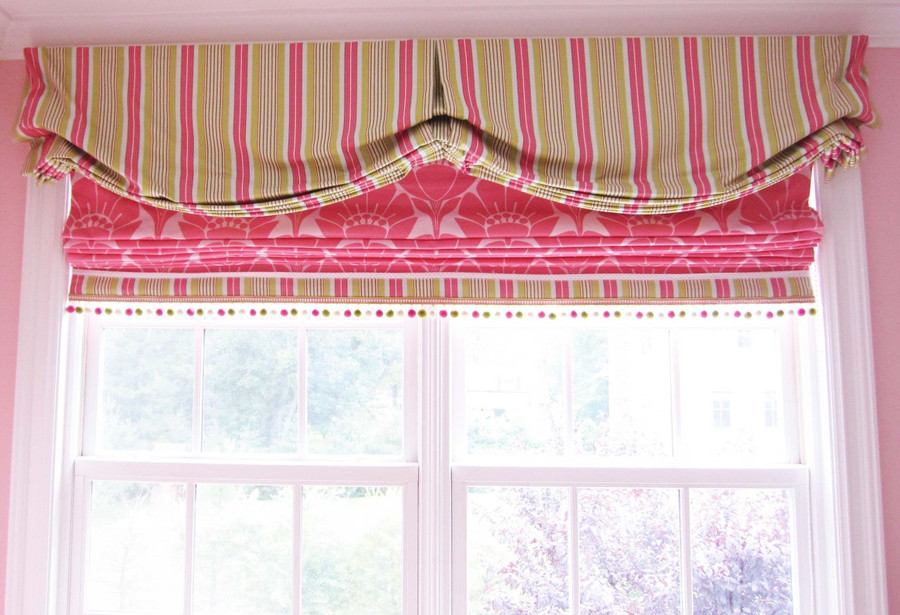 Roman Shade Fabric is by Marion Murray by Braemore Textiles